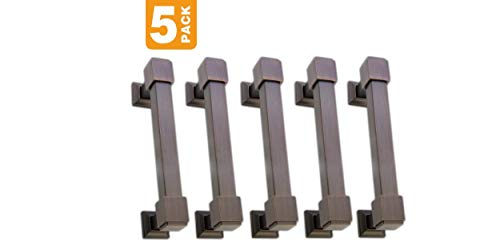 Southern Hills Oil Rubbed Bronze Drawer Pulls - 4 Inch Screw Spacing - Pack of 5 - Craftsman Style Kitchen Cabinet Handles SHKM010-ORB-5 by Southern Hills (Image #4)