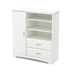 South Shore Callesto Armoire With Drawers Pure White White Armoire Drawers44