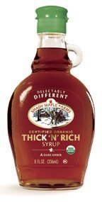 Shady Maple Farms Organic Dark Thick Maple Syrup, 8 Ounce -- 12 per case. by Shady Maple Farms