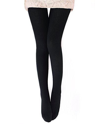 VERO MONTE Womens Wool Blend Cable Knit Tights - Opaque Tights Knitted Tights