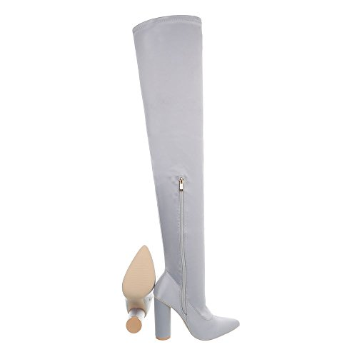 Ital design Clair Jr heel Cuissardes Bottes Kitten Femme Chaussures Et 004 Bottines Gris AAxdrvqZwC