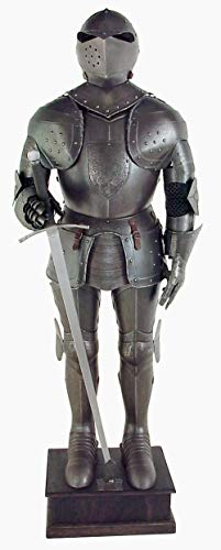 Black Knight Suit of Armor - Full Size Aged Antiqued Finish ()