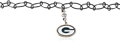 NFL Green Bay Packers Knotted Choker, Black, Stretch (Green Bay Packers Tattoo)