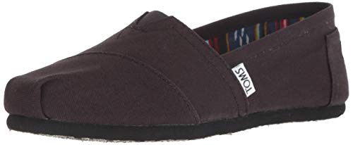 TOMS Women's 10002472 Black Canvas Alpargata Flat, 8 B(M) US
