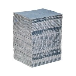 New Pig BLU101 15 x 19 in. PIG Absorbent Mat Pad44; Blue - Pack of 100
