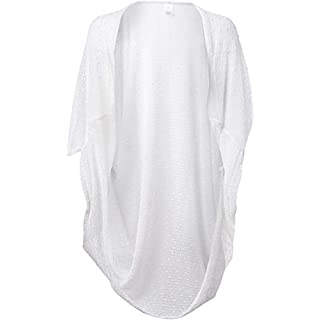 Collection XIIX Women's Textured Oversized Cocoon, White, One Size