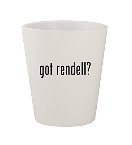 got rendell? - Ceramic White 1.5oz Shot Glass ()