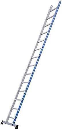 Tubesca - Escalera simple aluminio 14 peldaños, altura de acceso 4,99 m máx. - Platino recto.: Amazon.es: Bricolaje y herramientas
