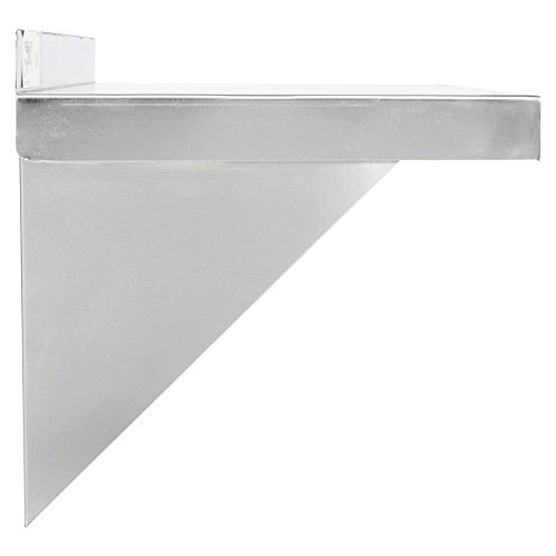 Stainless Steel Commercial Wall Shelf ( 12 W x 48L )18 Ga. with Mounting Brackets NSF APPROVED ROYAL INDUSTRIES by Royal Industries (Image #4)