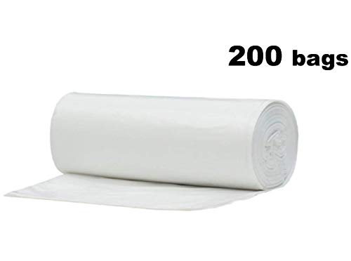 2.6 Gallon Clear Small Garbage Trash Bags 200 Count by CLiner (Image #5)