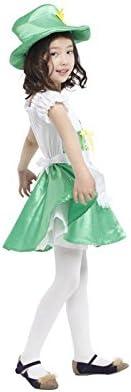 Cute Baby Girl Lace Dress Skirt Hat Uniform Green Fancy Costume