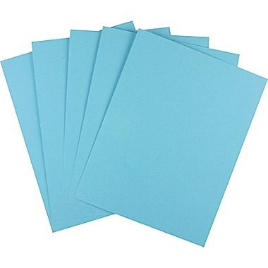 "Staples Brights Colored Paper, 8 1/2"" x 11"", Blue, 500/Ream"