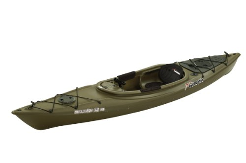 SUNDOLPHIN Sun Dolphin Excursion Sit-in Fishing Kayak (Olive, 12-Feet)