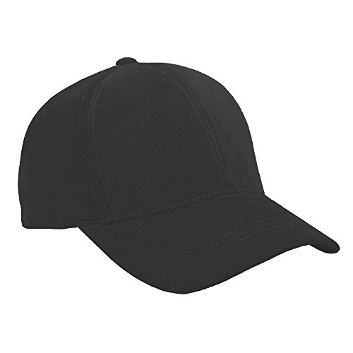 r Unisex Baseball Caps Made in USA (Black) (Suede Leather Baseball)