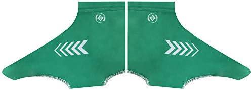 サイクリングシューズカバー 靴カバーレインスノーブーツプロテクターフィートゲイターバイキングサイクル防水オーバーシューズサイクリング暖かい防風 ロードサイクリング用 (Color : Green, Size : XL)