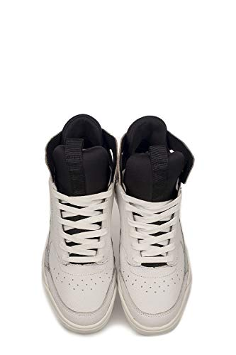 25701ks110 Pelle Top London Hi Donna Sneakers Crime Bianco C4wTAXqx