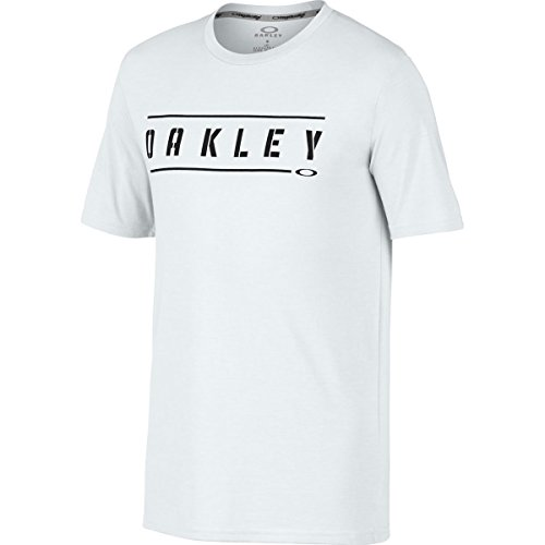 Oakley Men's O-Double Stack Tee, White, M Mens Stack