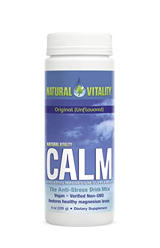 (Natural Vitality Natural Calm Drink - 8 Oz. Magnesium Supplement - Organic Calm Drink - Water Soluble Drink. Dietary Supplement)