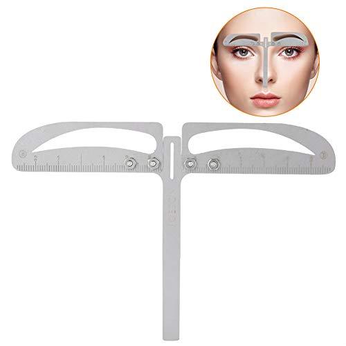 Regla de posicionamiento de Cejas, Ajustable Medición de Tres Puntos Maquillaje Herramienta simétrica Grooming Shaper...