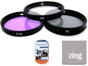 LCD Screen Protectors MicroFiber Cleaning Cloth 46mm Multi-Coated 3 Piece Filter Kit UV-CPL-FLD For Panasonic Lumix G 14mm f//2.5 ASPH Lens
