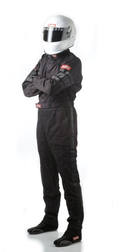 RaceQuip 110006 110 Series X-Large Black SFI 3.2A/1 Single Layer One-Piece Driving Suit