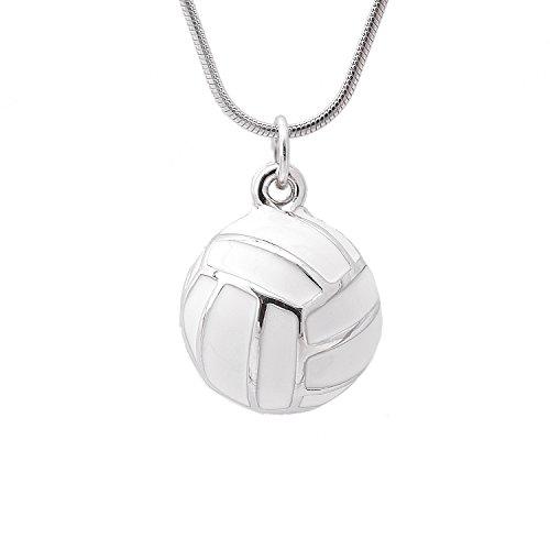 SpinningDaisy Jumping Strike Volleyball Necklace