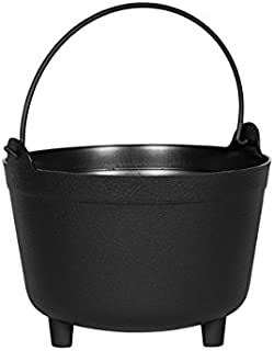 product image for Novelty MFG 48098 Antique Kettle Planter, 9-Inch, Black