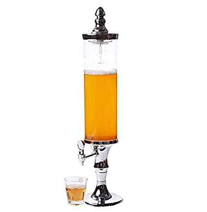 7 colores luz tubo de hielo cerveza jugo dispensador de bebidas torre 3 L plata