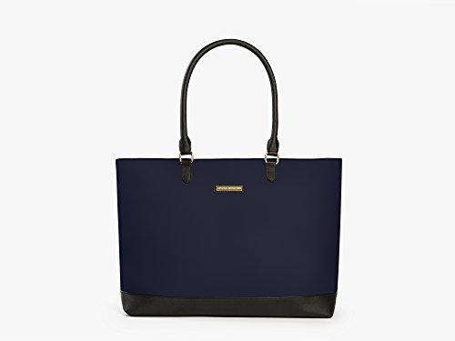 Archer Brighton Isabel Women's Laptop & Tablet Zip Tote, Women's 15.6 & 17 Inch Business Computer Briefcase Bag with Crossbody, Leather Canvas Organizer Handbag Purse for Work, Travel (Navy) by Archer Brighton
