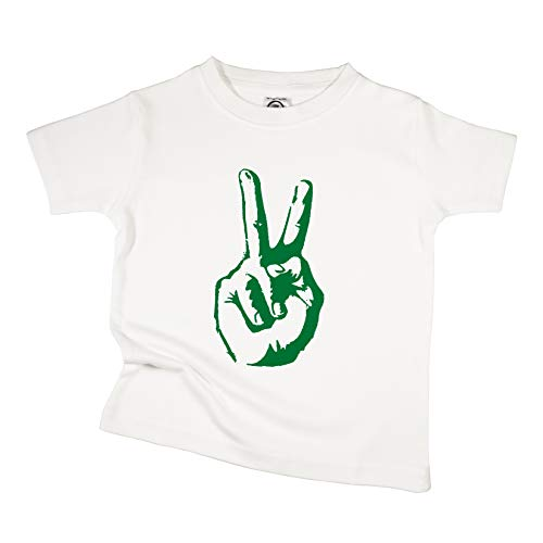 The Spunky Stork Peace Hand Sign Organic Cotton Toddler T-Shirt (4T) -