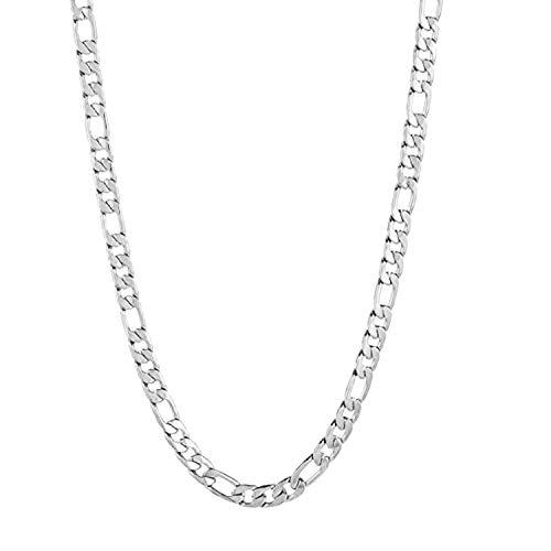 Forziani EXALT 8mm Diamond Cut Figaro Chain Necklace for Men - 26