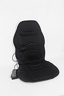 Vibration 10 Motor Massage Seat Cushion with Heat - Lumbar - Neck - Shoulder - Back & Thigh Massager with Heat Therapy