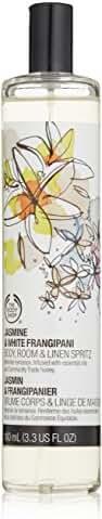 The Body Shop Room & Linen Spray, Jasmine & White Frangipani, 3.3 Fluid Ounce