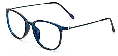para cuadradas Hykis de Black Vintage Unisex para Delgadas de azul Lentes Gafas de oculos Mujer Marco Retro Bright para Gafas Transparentes Gafas Grau Retro Hombre Gafas Pierna aarqwxA5