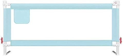エキストラベッドのすべての種類のために長い適したベッドレール子供Bedguard折りたたみ安全ベッドレール、サイズ組み合わせ自由ピンクの王女をToddle (Color : Blue, Size : 1.8m)