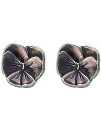 Danforth   Pansy / Purple Mini Post Earrings
