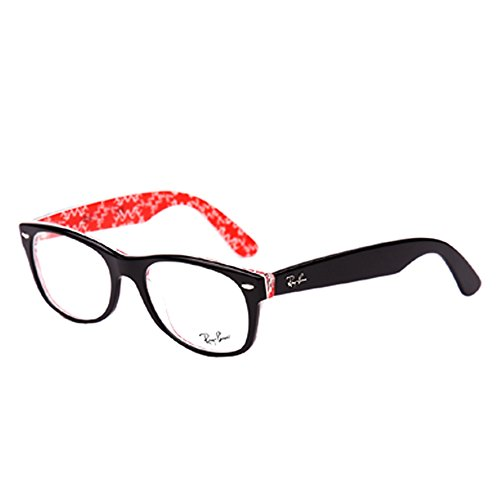 Ray-Ban RX5184 New Wayfarer Eyeglasses Top Black On Texture Red - Ban 5184 Ray