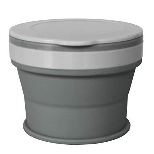 Staron  Silicone Portable Folding Travel Cup, Reusable Retractable Folding Cup Telescopic Collapsible Travel Camping (Gray)