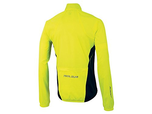 Pearl Izumi Men's Elite Barrier Jacket, Medium, Black/Screaming Yellow