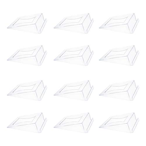 Plastic Clear Table Numbers Holder Place Card Holder Party Wedding Table Name Card Holder Memo Note Card Photo Holder(12pcs)
