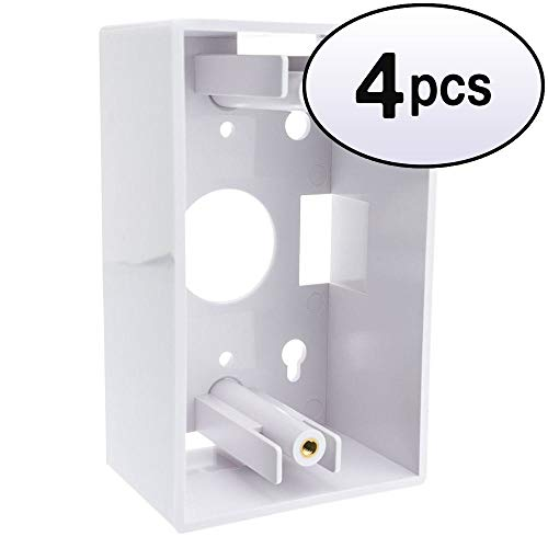 - GOWOS (4 Pack) Single Gang Surface Mount Box, White