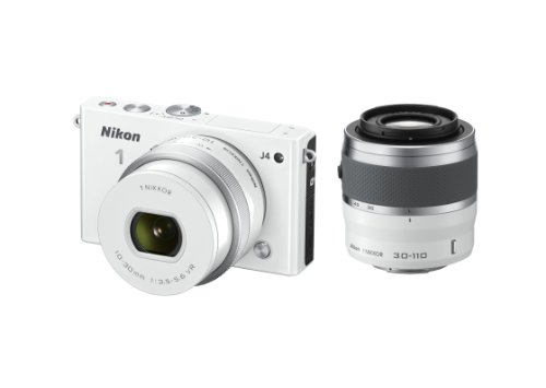 Nikon 1 J4 Digital Camera with 1 NIKKOR 10-30mm f/3.5-5.6 PD Zoom Lens and 30-110mm f/3.8-5.6 Lens (White) (Discontinued by Manufacturer) by Nikon