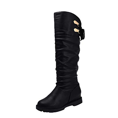 wholesale XUANOU Knee High Boots Women Soft Leather Knee Comfortable Boots Women's Shoes Long Boots Party Silver