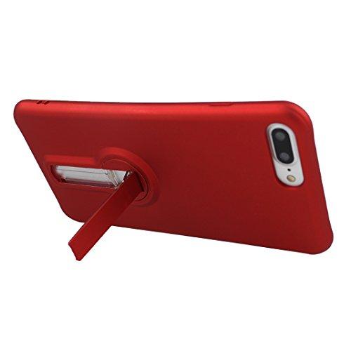 Funda iPhone 7 Silicona, Rosa Schleife Ultra delgado Cubierta de la caja del silicón de TPU Caso Carcasa cubrir con diseño de chapado de la contraportada Función de Soporte Funda de Móvil para el iPho Plating - Rojo