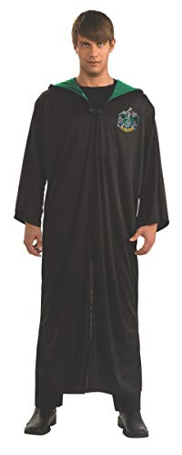 (Harry Potter Adult Slytherin Robe, Black, Standard Costume)