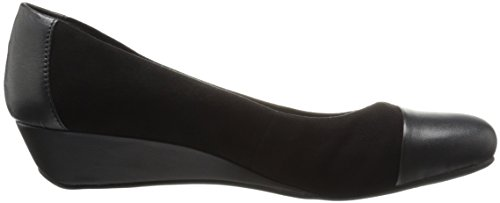 9 West West Spirit Womens Daneri Wedge Pump Nero / Nero Scamosciato