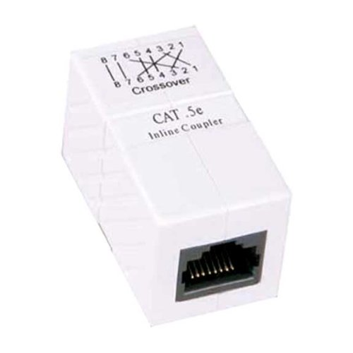 - SF Cable CAT5e RJ45 Inline Ethernet Crossover Coupler White
