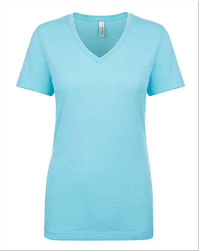 Next Level Women's Lightweight V-Neck Jersey T-Shirt - 1540, Cancun, XX-Large