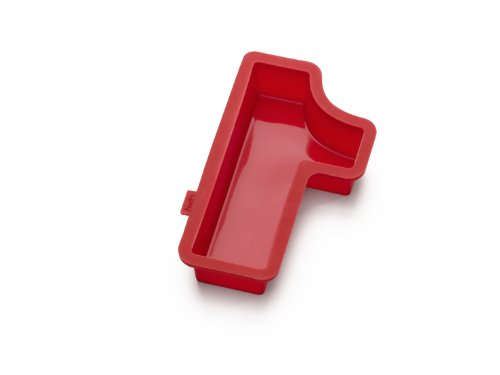 Lekue Number 1 Cake Mold, Red (Numbers Silicone)