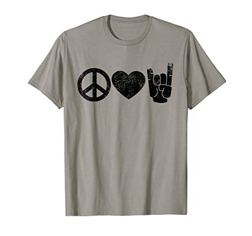 Peace Love Rock and Roll T-Shirt (Rock T Shirts Concert)